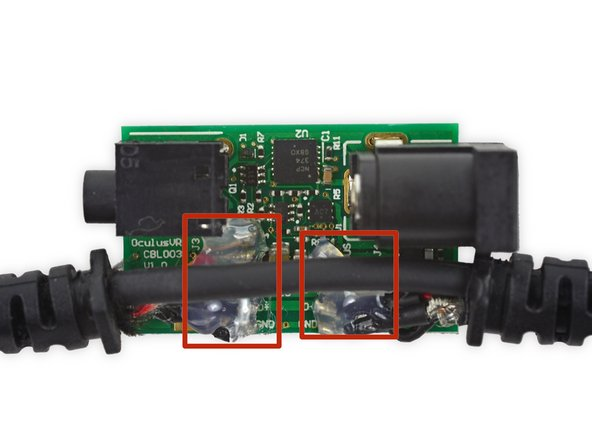 Carefully pry the cable away from the cable hub motherboard. It is attached with hot glue and should be removed easily.