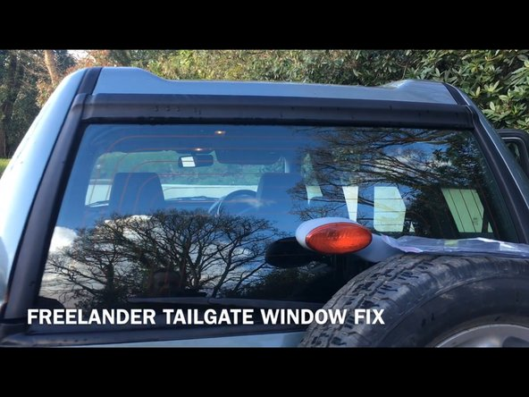 1997-2006 Land Rover Freelander Tailgate electric window Replacement
