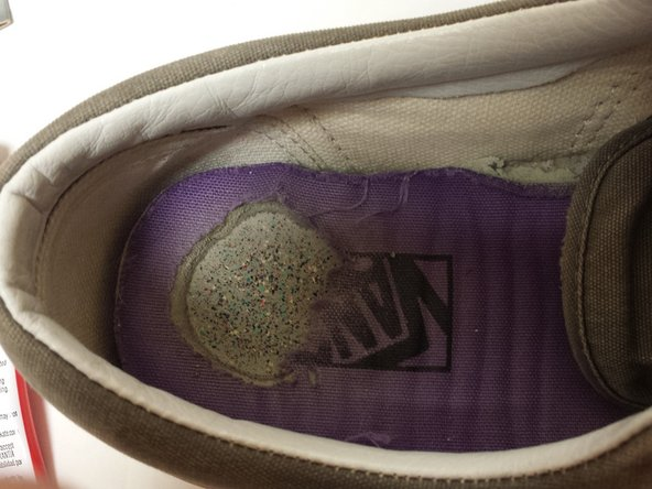 Place the insole back into the shoe.