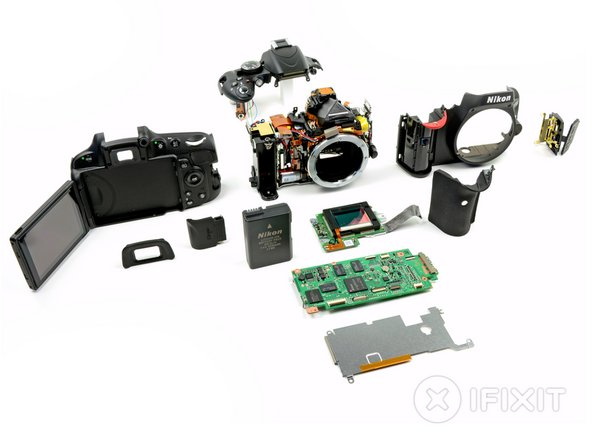 Nikon D5100 teardown layout