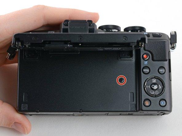 Flip open the LCD.