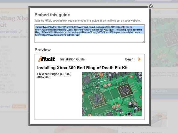 iFixit repair guide widget