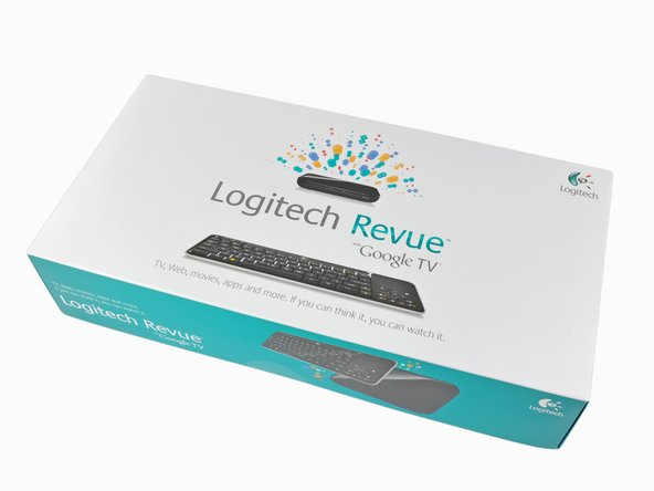 Image 1/3: Although [http://www.logitech.com/en-us/smartTV/accessories|other options] exist, the Revue ships with a custom keyboard controller, with built-in multi touch trackpad.