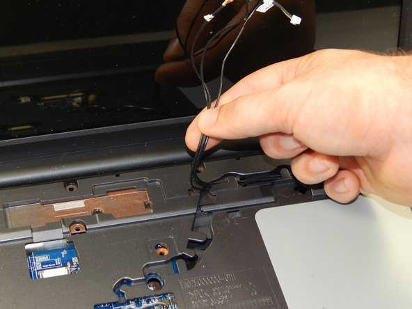 Gently pull out the three wires.