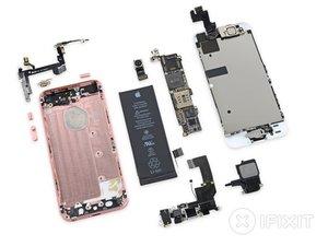 Vue éclatée de l'iPhone SE