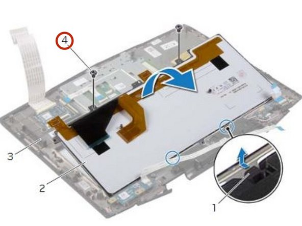 Remove the screws that secure the keyboard to the palm-rest assembly.