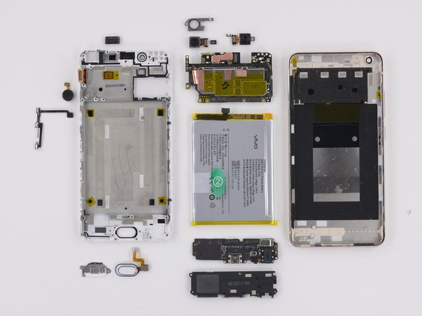 The Vivo X7 Plus earns a 7 out of 10 on our repairability scale (10 is the easiest to repair):