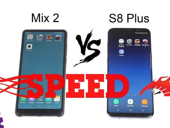 Samsung Galaxy S8 Plus vs Mi Mix 2