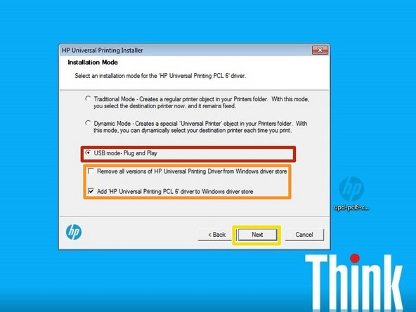 This method copies the driver files to your computer. If you connect a new printer and don't install the printer specific driver, this can be used in place of that driver.