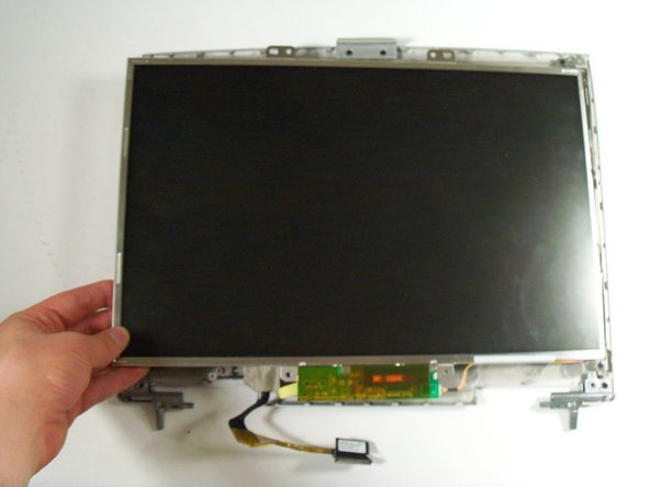 Remove the broken LCD unit, and replace with new unit.