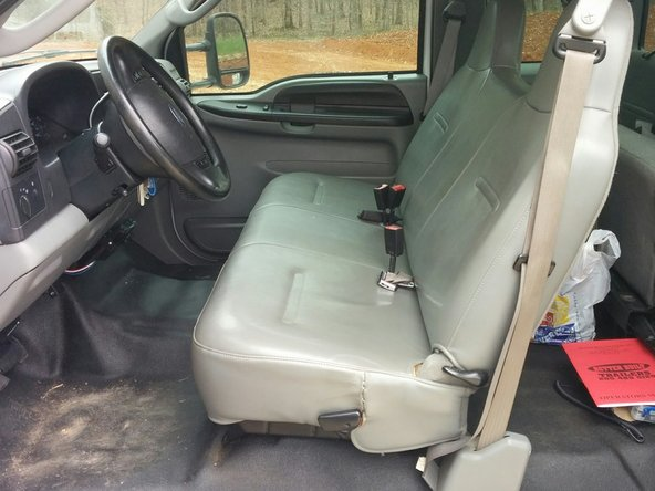 1999-2007 Ford Super Duty Seat Replacement (1999, 2000