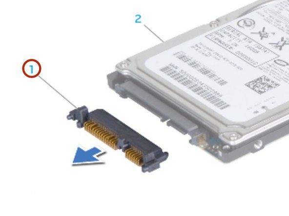 Remove the interposer from the secondary hard drive (HDD1), if applicable.