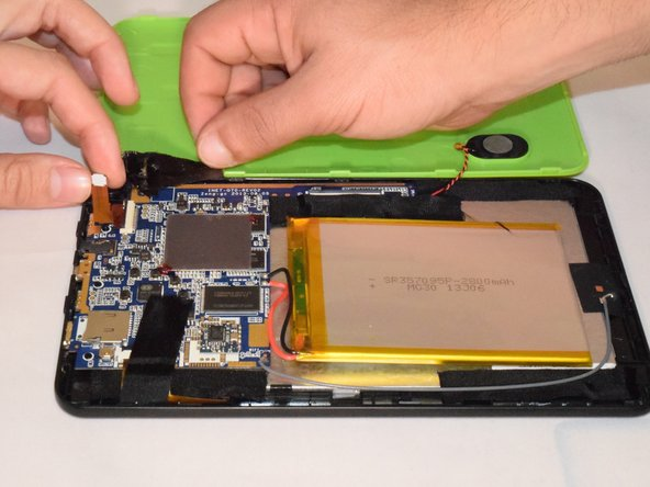 Image 2/2: Once lever is lifted up, remove camera from device; and it is ready to be replaced.