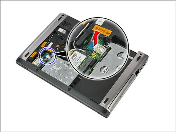 Disconnect the hard-drive cable from the hard drive.