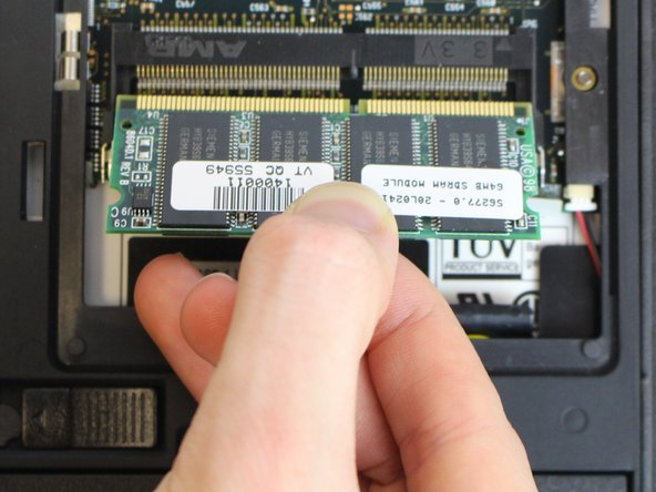 Using your fingers, pull straight in line with the ram to remove it.