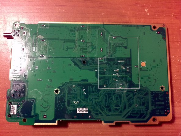 Here is the circuit board fully removed.
