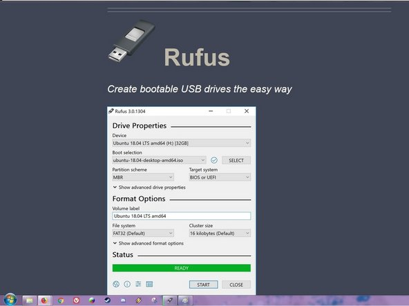 USB Installation Media Creation