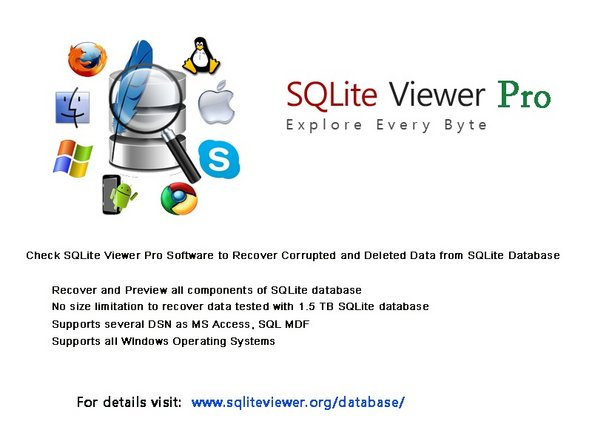 SQLite DB Viewer Software with Free and Pro Editions Main Image