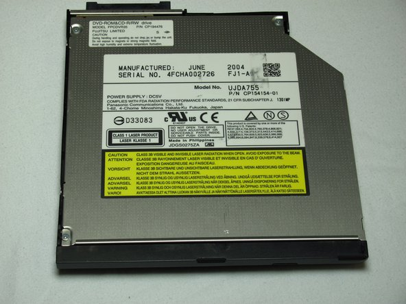 Fujitsu LIFEBOOK P7010D Disc Drive Replacement