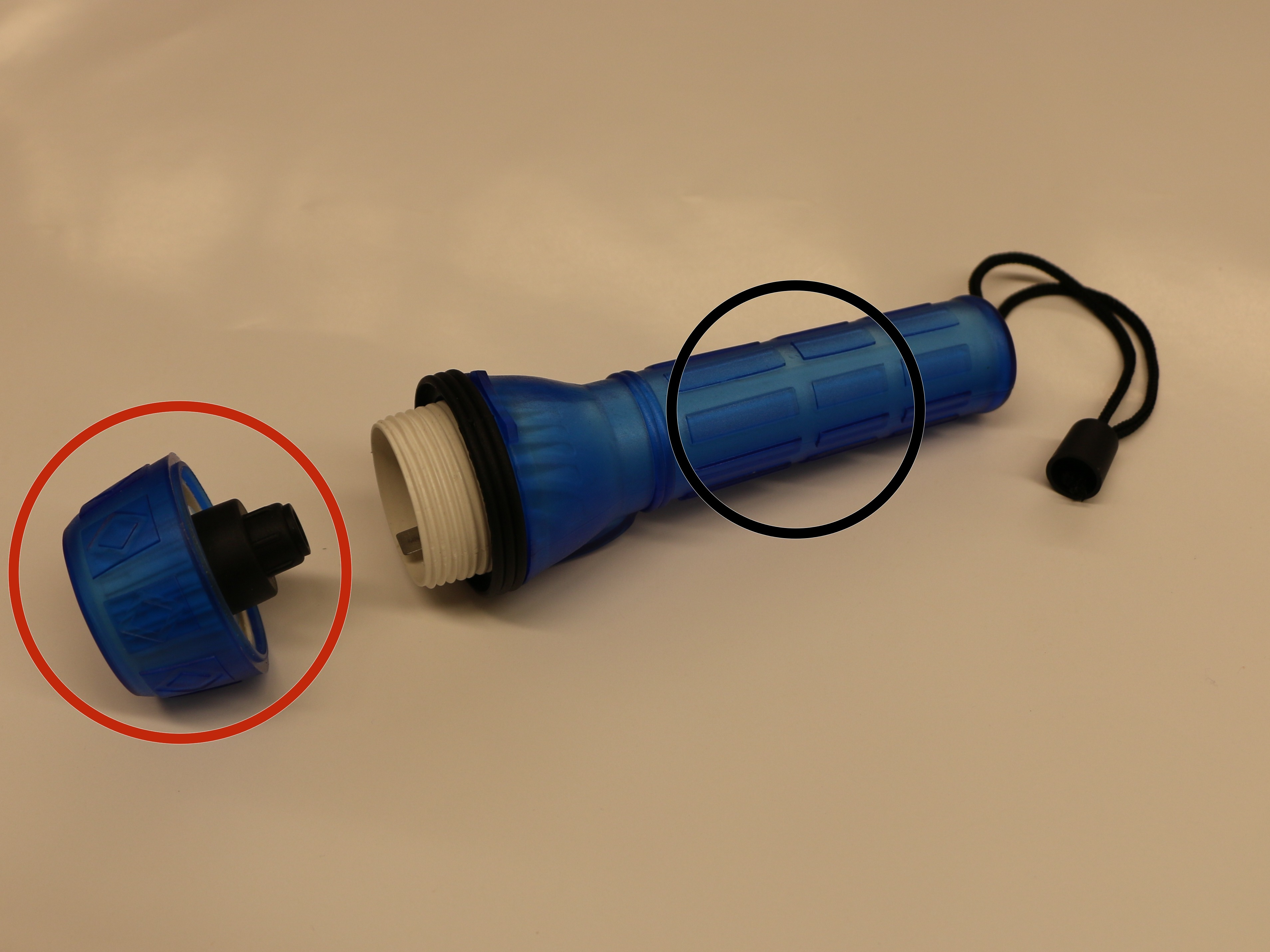 Flashlight Repair Ifixit Mini Maglite Diagram Disassembling Translucent Rubber Battery Power Component
