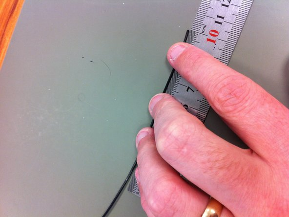 Measure out a 10cm length of wire.