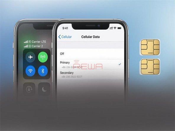 iPhone XS Max Single SIM Card to Physical Dual SIM Card