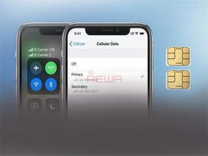 iPhone XS Max Single SIM Card to Physical Dual SIM Card