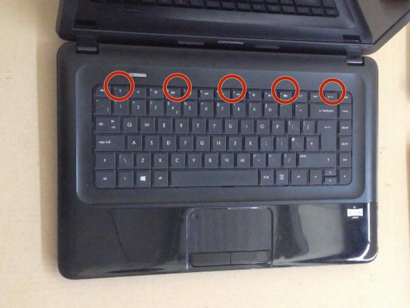 The Keyboard is held by 5X locking clips.