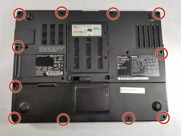 Image 1/3: Lift the back panel off the laptop to expose the interior of the laptop.