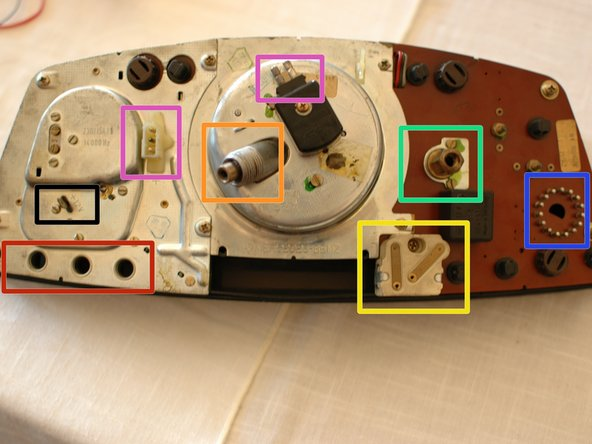 And a bit more detail about the components on the back of the cluster: