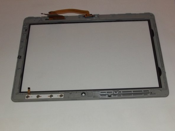 The black unit is the screen, and the clear unit is the digitizer. Replace whichever you need to, then reassemble.