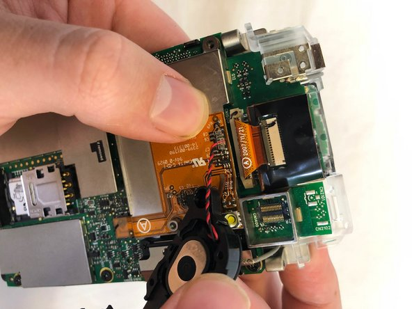 Disconnect the speaker from the motherboard.