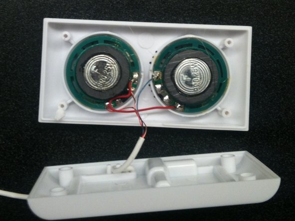You now have full access to all the wiring to the speakers.