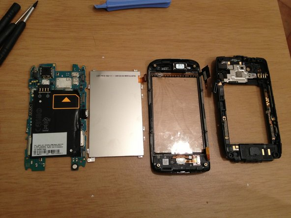 Once the LCD is removed, the handset disassembled.