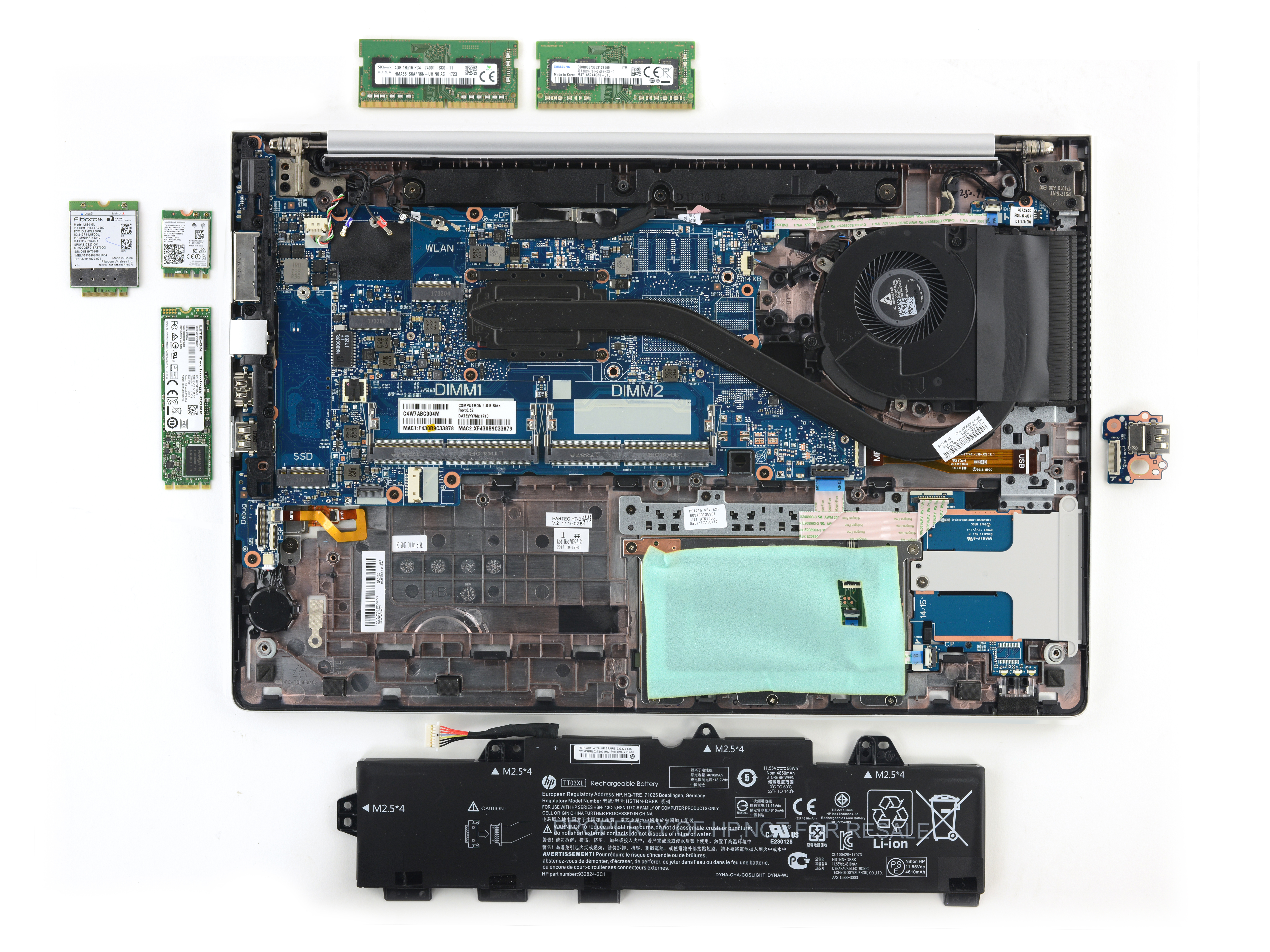 Modularity of the EliteBook 800 G5.
