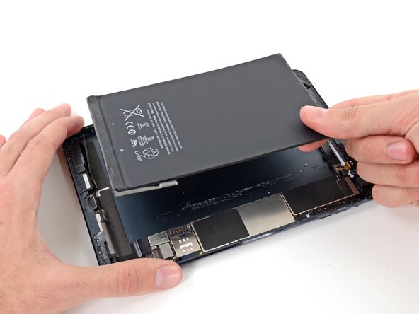 Lift and remove the battery from the iPad.