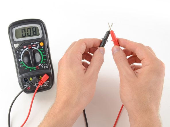 In this mode, the multimeter sends a little current through one probe, and measures what (if anything) is received by the other probe.