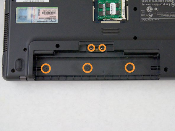 There are three 3mm and two 5.3mm screws under the battery that also need to be taken out.