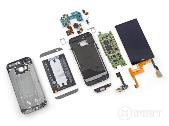 HTC One M8 Repairability Score: 2 out of 10 (10 is easiest to repair)