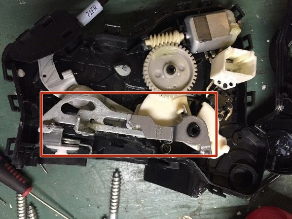 Here are some photos of the similar actuator mechanism (Front doors, etc.).  The instructions are essentially the same for removal and installation.