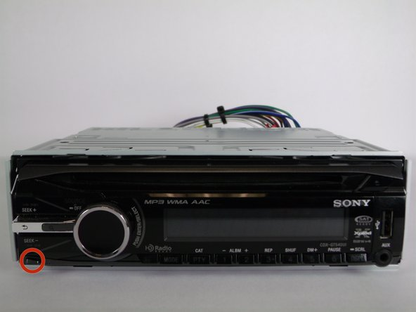 sony cdx gt540ui repair ifixit front panel