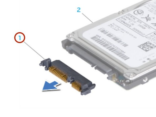 Connect the NEW interposer to the secondary hard drive (HDD1), if applicable.