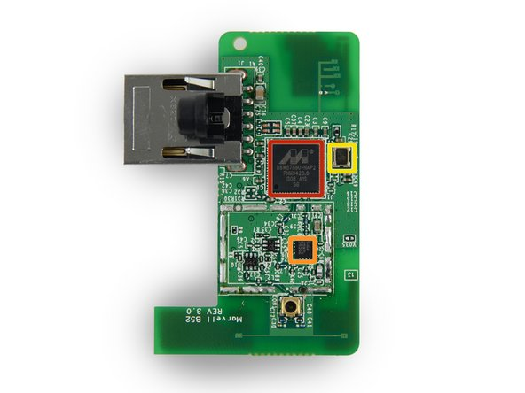 Image 2/2: We found the following ICs on the Wi-Fi board: