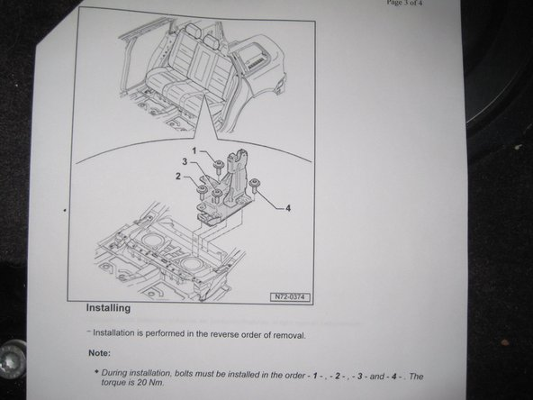 Image 1/2: Again, VW recommends the order of bolt installation.  See the service manual picture.