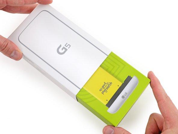 LG erinnert den Käufer daran, dass der Akku austauschbar ist. Sehr freundlich.