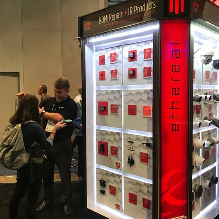 Metra Home Theater group booth at CES
