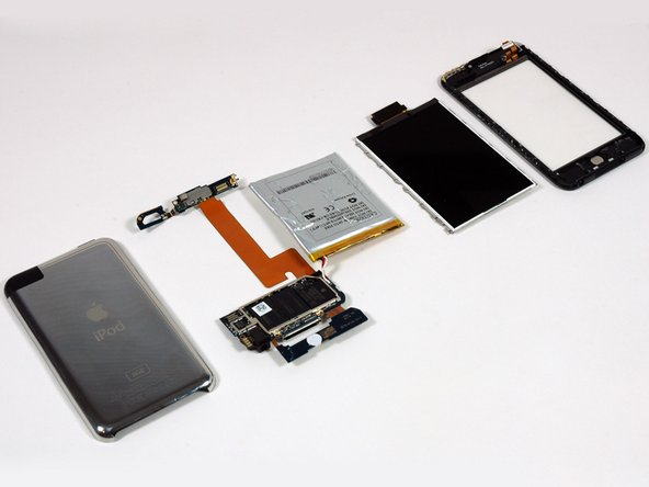 Image 1/1: Apple has integrated a lot of components into the logic board assembly on this iPod. This iPod sports only five main parts, held together by lots of tabs, adhesive, and 22 screws.