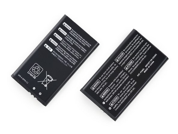"On the left is the New 3DS XL battery, with the ""old"" 3DS XL battery on the right."