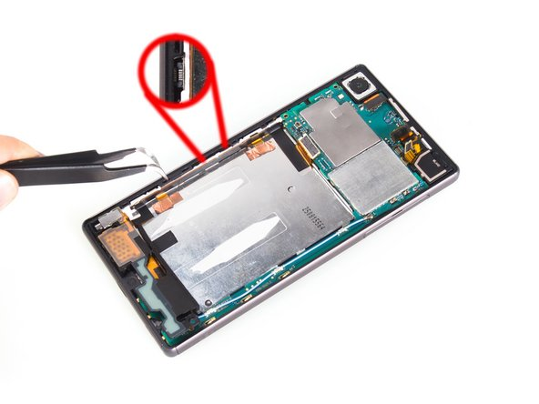 Remove main flex. ( Attention: the fingerprint sensor connector is here, be careful to loosen it)