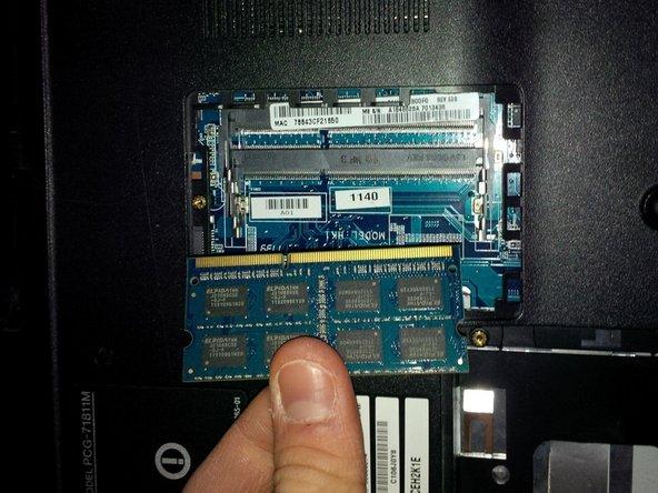 remove the RAM module.